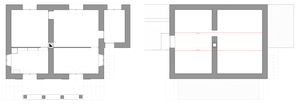 Existing Ground Floor & Attic Floor Plan