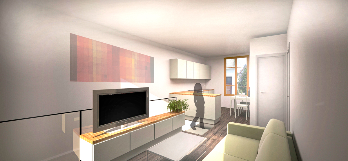 Apartment 1 - Ground Floor Plan - Proposal 1