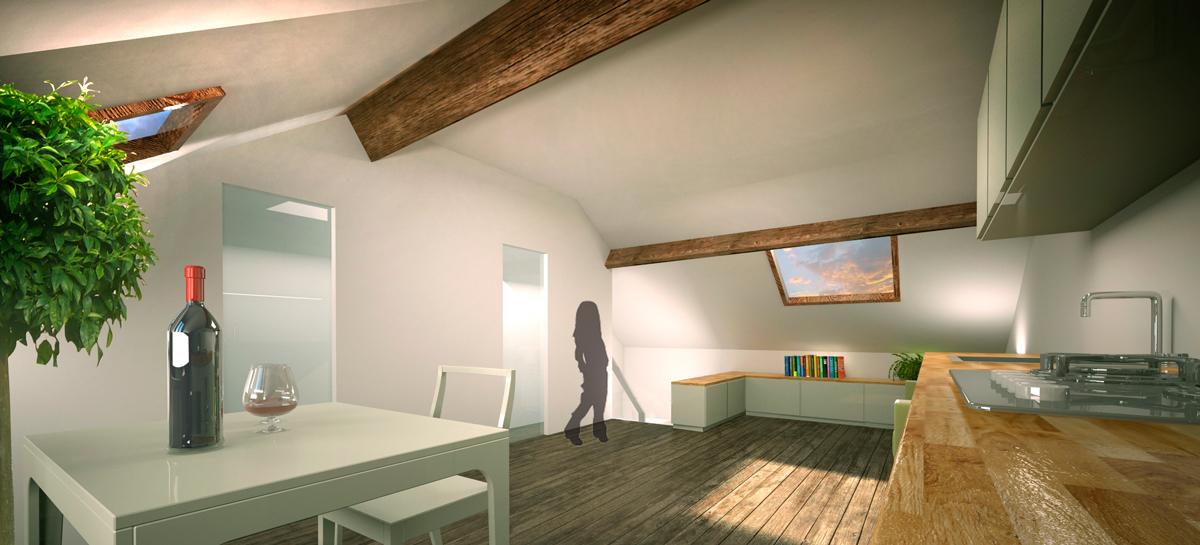 Apartment 3 - Attic Floor Plan