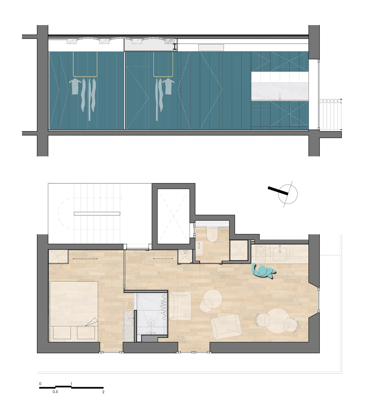 Project Floor Plan & Section
