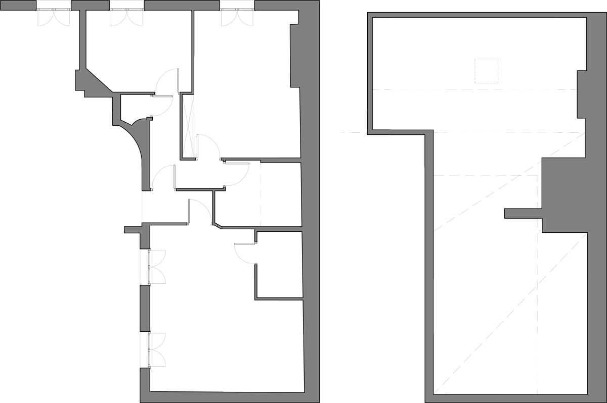 Existing Floor Plan / Attic Floor Plan